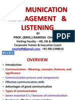 BC-1 & 3, Comn Mgmt & Listening -Pptx