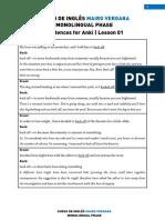 Lesson 01 - Monolingual Sentences for Anki