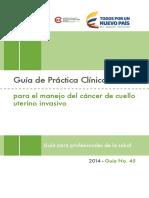 GPC Manejo Del Cáncer de Cuello Uterino Invasivo