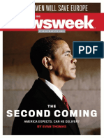 Newsweek Obama's Re Election