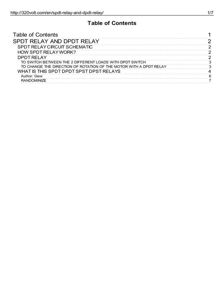 Http 320volt.com en Spdt Relay and Dpdt Relay | Switch | Relay