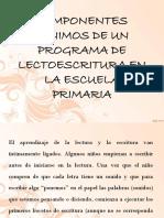 COMPONENTES MINIMOS DE UN PROGRAMA DE LECTOESCRITURA.pptx
