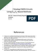 Analog Design With Gmid Based Methods