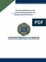 07.Procedimientos Para La Constitución de Aseguradoras o de Reaseguradoras Nacionales