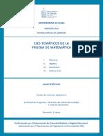 Temario Prueba Matematicas 2018