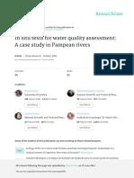 Graça Et Al 2002 - In Situ Tests for Water Quality Assessment a Case Study in Pampean Rivers