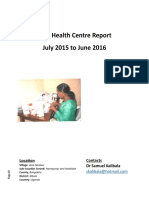 Toth Health Centre Report Jul 2015 to June 2016