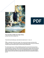 The Humility of Blessed Virgin Mary