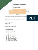 Revisão de Prova de Matemática