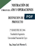 Administracion de Proyectos y Operaciones