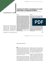 A Presença Do Jardim e Da Paisagem Nas Cartas Patrimoniais e na legislação brasileira