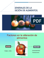 Aspectos Generales de La Descomposición de Alimentos