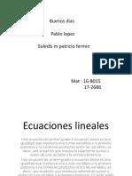 Ecuaciones Pablo