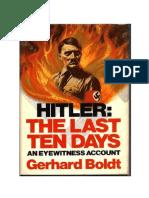Yo Estuve Con Hitler - Los Ultimos Dias de La Cancilleria Del Reich - Boldt Gehrard
