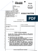 Attorney Matthew Fletcher 189923 Disciplined by State Bar of California
