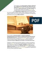 El Derecho Sustantivo