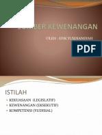 Atribusi, Delegasi Dan Mandat
