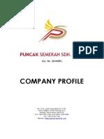 Company Profile Puncak Semerah Sdn Bhd(Latest Mar 2012)