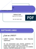 Presentación Software LINDO 6.1