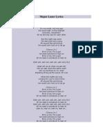 Major Lazer Lyrics