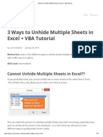 3 Ways to Unhide Multiple Sheets in Excel + VBA Macros