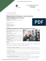 Tipos de Sociedades Mercantiles y Comerciales en Perú