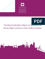 Human Right to Culture in Post-conflict Societies - Human Rights Commission - Ireland
