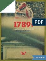 1789 Revolucion Francesa - Georges Lefebvre