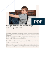 Los Problemas de Aprendizaje Causas y Soluciones
