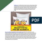 (WA)0822 2711 6743 Jual Bantal Custom Surabaya, Jual Bantal Custom Print Surabaya,