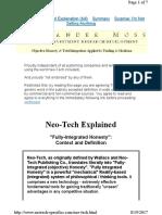 Neo-Tech Explanation