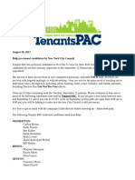 Help elect Pro-Tenant Candidates to the NYC Council