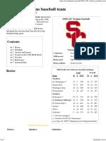 1998 USC Trojans Baseball Team - Wikipedia