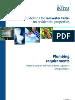 Sydney Water Guidelines for Rainwater Tanks