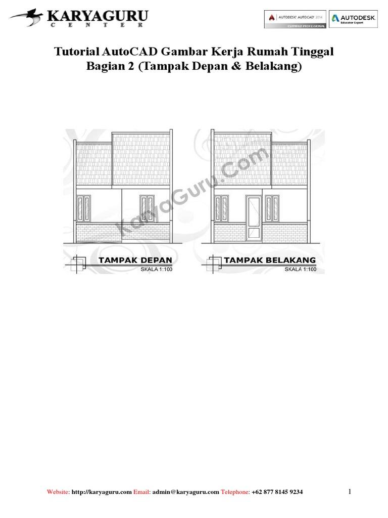 810 Gambar Rumah Tampak Depan Autocad Gratis
