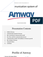 The Communication System of Amway