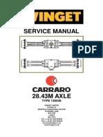 Carraro 28.43m Rear Axle 139548 Repair Manual