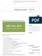 11th August SSC CGL 2017 Questions With Answers - SSC CGL 2017 Notification I Exam Dates _ Pattern _ Syllabus