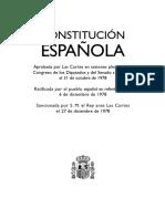 Constitucion Española CASTELLANO