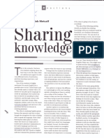 Sharing Knowledge - Different Types of Learners