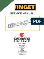 Carraro 711-19 Axle Workshop Manual