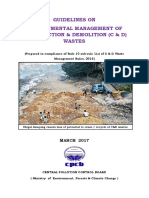 Cpcp - (Print) Guidelines on Environmental Management of Construction & Demolition (c & d) Wastes, March 2017