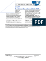 Bill Summary- Banking Regulation