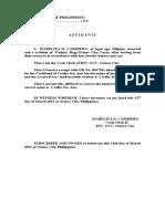 Affidavit of No Income