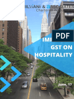 Impact of gst on hotel