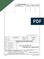 Calculation of Torsional Vibration Tvd-1121-Pt110