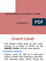 Invert Levels and Construction of Sewer