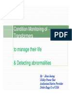 Condition Monitoring of Transformer
