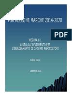 Psrmarche 20142020 Insediamento Giovani Agricoltori Sileoni (1)