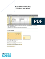 Modular Bookcase Project Diagram